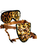 Furplay Harness And Mask Set Brown Tiger