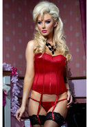 Perfect Polish 2pc Corset- Red-s (disc)