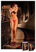 Lace G-string W/bow - Red Lg (disc)