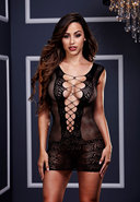 Ultra Corset Lace Up Cut Out Mini Dress