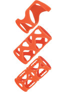 Posh Silicone Lovers Cage Cock Cage Orange 3 Each