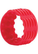 Adonis Silicone Reversible Enhancer Cockring Silicone Red