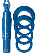 Cockrings With Tickler Kit Waterproof Blue
