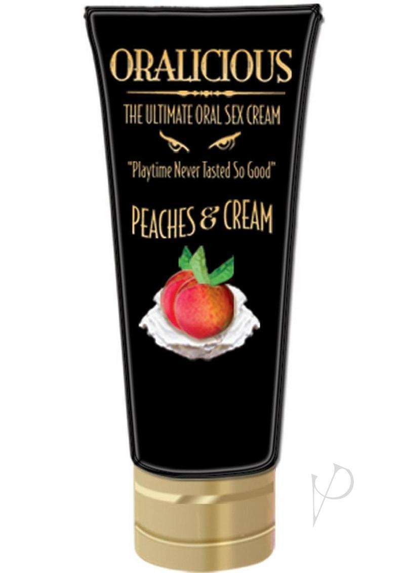 Oralicious Ultimate Oral Sex Cream 2 Ounce Peaches And Cream
