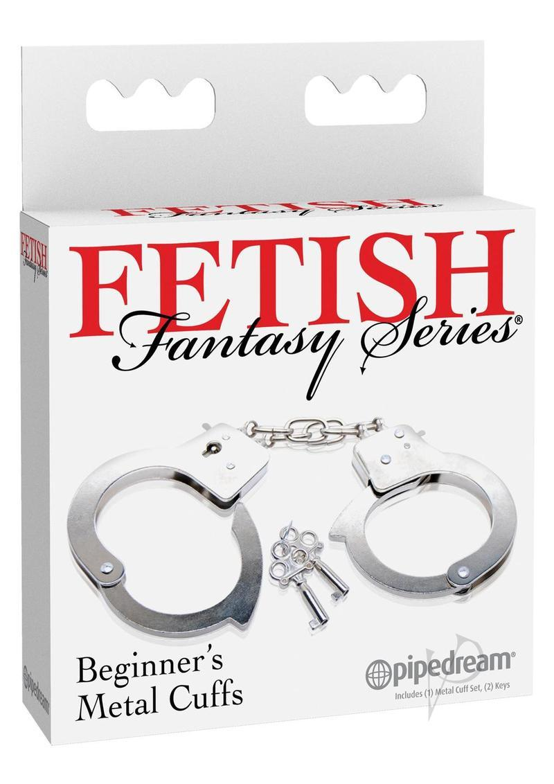 Fetish Fantasy Series Beginner Metal Cuffs Silver
