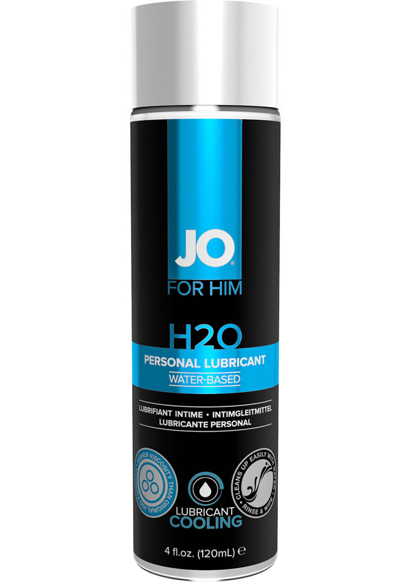 Jo For Men H2o Cooling Water Based Personal Lubricant 4 Ounce