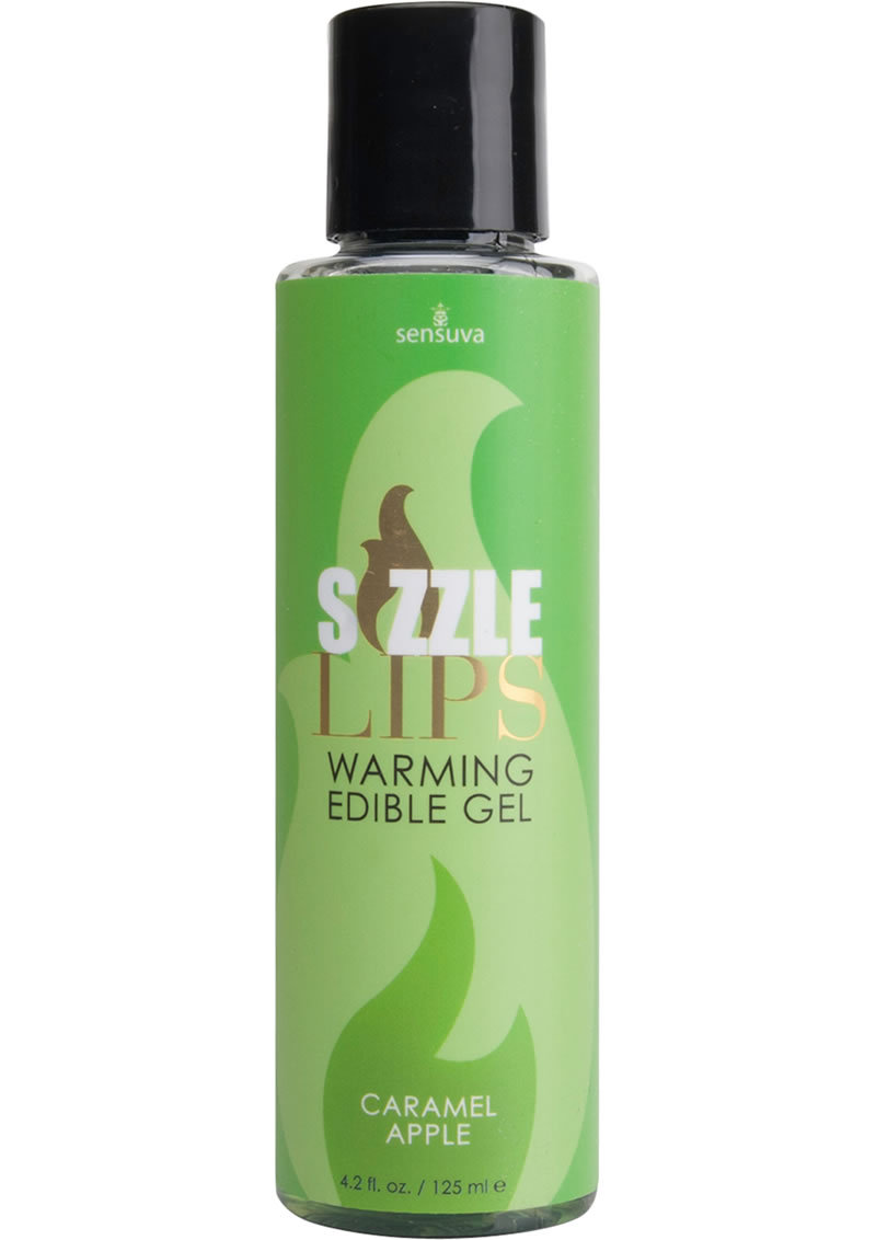 Sizzle Lips Warming Edible Gel Caramel Apple 4.2 Ounce