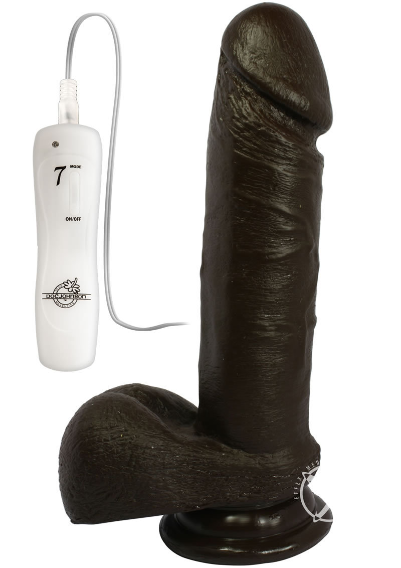 The Vibro Realistic Vibrating Cock 6 Inch Black